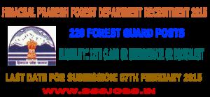 Himachal Pradesh Forest Department Recruitment 2015
