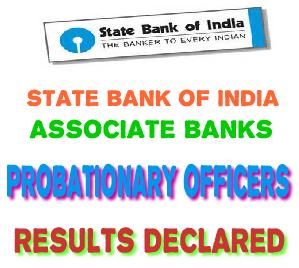 SBI PO ASSOCIATE BANKS WRITTEN EXAMINATION RESULT DECLARED