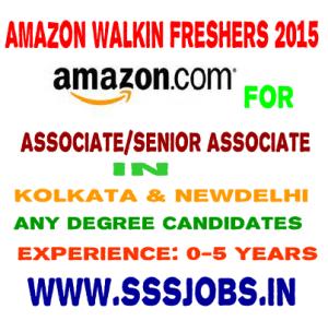Amazon Walkin Freshers 2015 Batch – Any degree on 5 April 2015 at Kolkata & Newdelhi