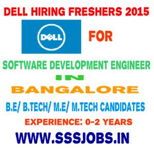 Dell hiring Freshers 2015 Batch – B.E/ B.Tech/ M.E/ M.Tech