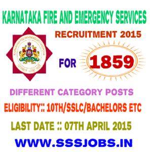 Karnataka SFES Recruitment 2015 for 1859 Various Posts Vacancies