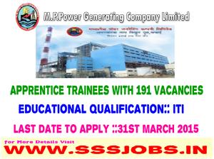 Power Generation Company Ltd Recruitment 2015 for 191 Trainee Posts