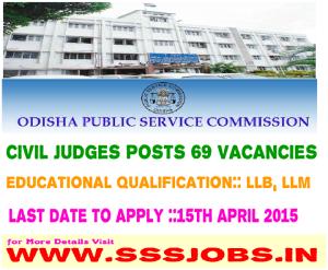 Odisha PSC Recruitment Notification 2015 for 69 Vacancies