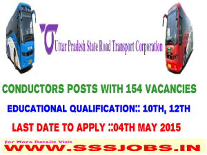 Uttar Pradesh State RTC Recruitment 2015 for 154 Conductors Posts
