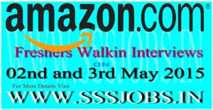 Amazon Freshers Walkin Recruitment Drive on 2nd and 3rd May 2015