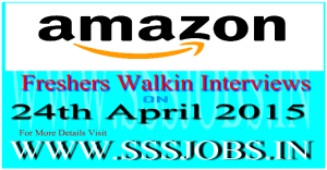 Amazon Freshers Walkin Recruitment on 24th April 2015
