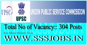 Union Public Service Commission UPSC Notification 2015 for 304 Posts