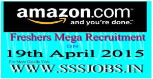 Amazon Freshers Mega Recruitment Drive on 19th April 2015