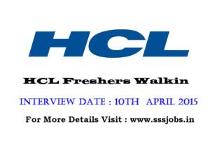 hcl fresher walkin