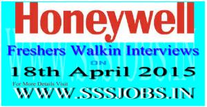 Honeywell Freshers Walkin Recruitment on 18th April 2015