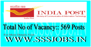 India Post (Orissa Postal Circle) Recruitment Notification 2015 for 569 Posts