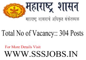 Government of Maharashtra Notification 2015 for 304 Vacancies