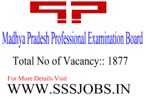 Madhya Pradesh Professional Examination Board (MPPEB) Notification 2015 for 1877 Posts