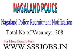Nagaland Police Notified Recruitment 2015 for 308 Vacancies
