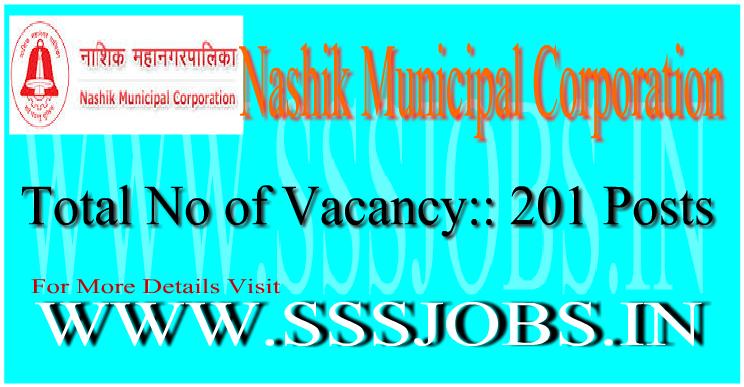 Nashik Municipal Corporation Notification 2015 for 201 Vacancies