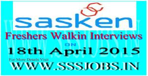 Sasken Freshers Walkin Recruitment on 18th April 2015