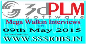 3DPLM Mega Walkin Recruitment Drive on 09th May 2015