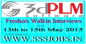 3DPLM Mega Walkin Recruitment Drive on 13th to 15th May 2015