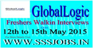 Global Logic Freshers Walkin Recruitment on 12th to 15th May 2015