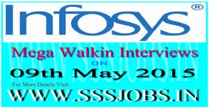 Infosys Freshers Mega Walkin Recruitment on 9th May 2015