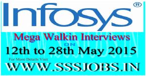 Infosys Mega Walkin Recruitment on 12th to 28th May 2015