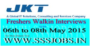 JK Technosoft Freshers Walkin Recruitment on 06th to 08th May 2015