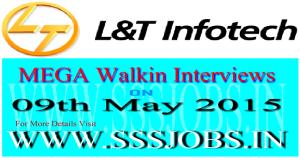 L&T Infotech Mega Walkin Recruitment on 09th May 2015