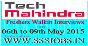 Tech Mahindra Freshers Walkin Recruitment on 06th to 09th May 2015